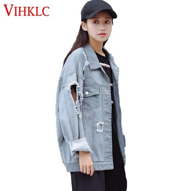 Aliexpress.com : Buy 2017 Large Size Denim Jackets Autumn Long ...