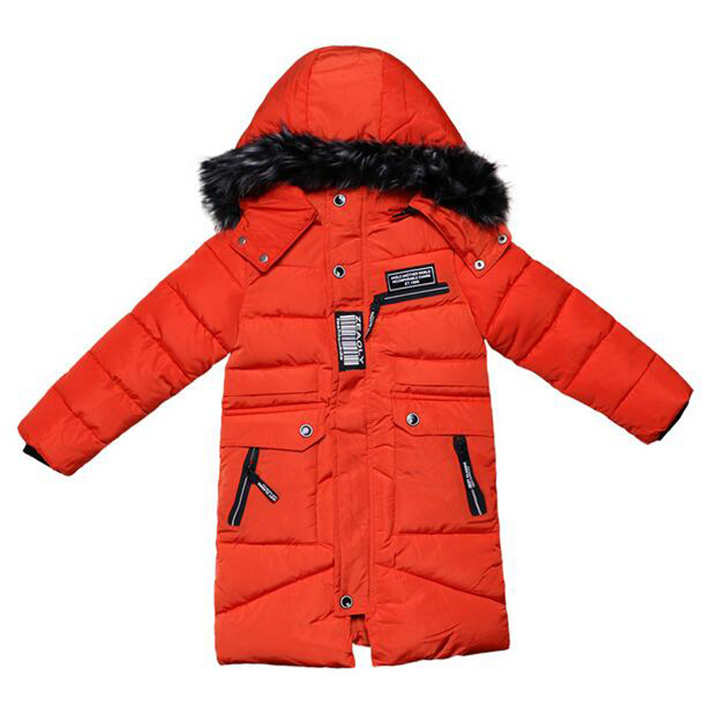 Teenage Boys Army Green Jackets Baby Kids Winter Parkas Warm Padded Outerwear Children Overalls Fur Collar Jacket With Hood children winter coats jacket baby boys warm outerwear thickening outdoors kids snow proof coat parkas cotton padded clothes