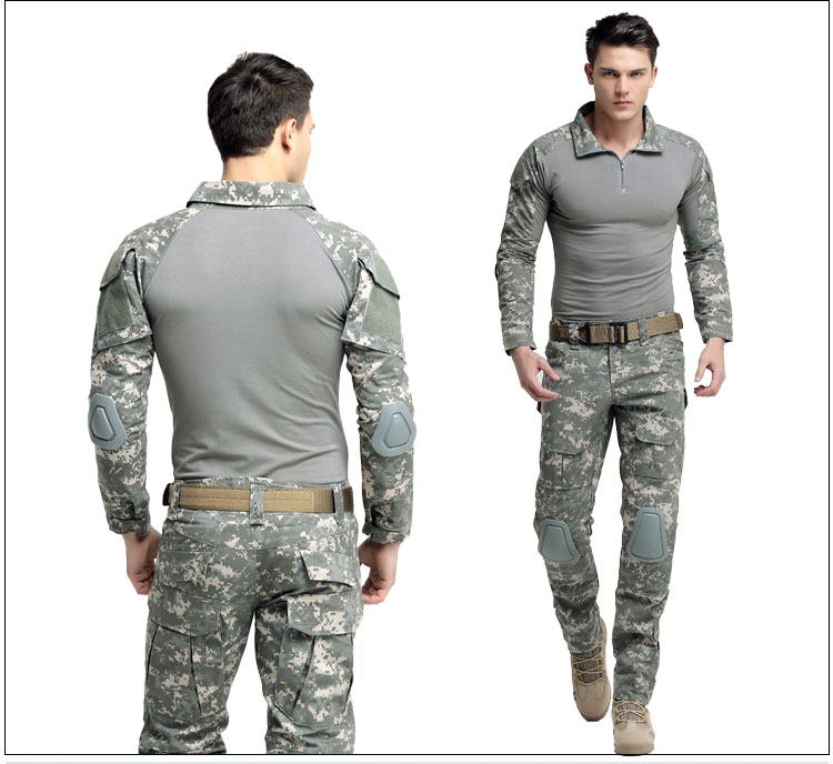 Outdoor men male Tactical camouflage Suits combat uniform Jacket top pant US training military hunting top trousers Clothing set outdoor hunting clothes us army tactical uniform men camouflage suit military combat uniform set shirt pants acu camo clothing