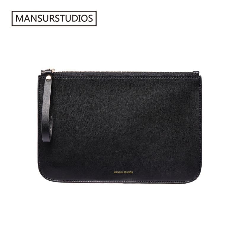 MANSURSTUDIOS Women Split Leather Standard Wallet , Lady  Leather MG Purse,mansur Gavriel Girl Leather Wallet Whith Bucket Bag
