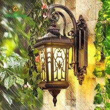 ФОТО gy-lighting classic outdoor wall lamps waterproof  yard lamp led lights