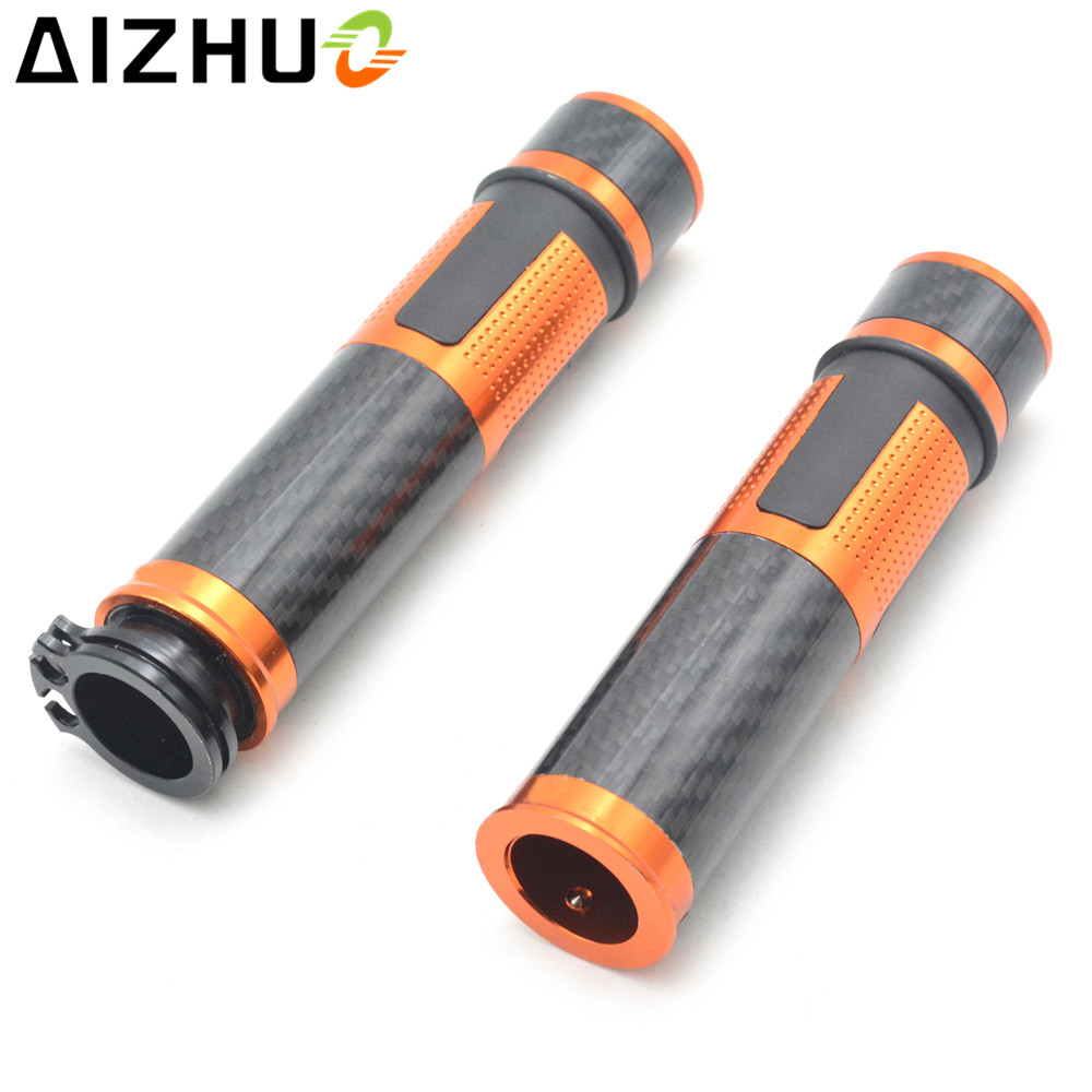 22mm Universal Motorcycle Handle Grip Handle Bar Grips CNC Carbon Fiber Motocross Pit Dirt Bike For KTM EXC 250 XC SX SXF XCW