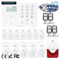 HOMSECUR Wireless 4G/GSM Home Security Alarm System For Elderly Daily Life Care GA01 4G W