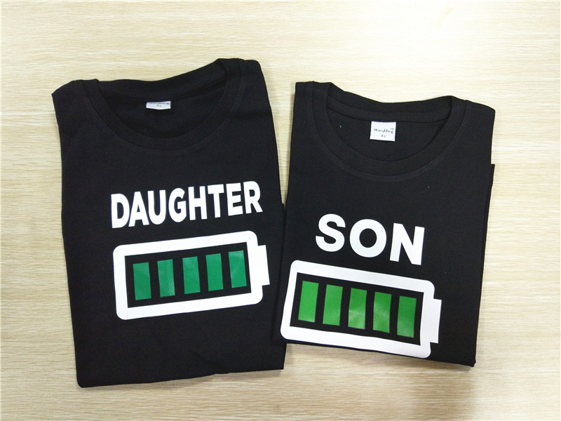 HTB1P XCRVXXXXaHXFXXq6xXFXXXz - Family Matching Clothes Look Matching Outfits Clothes Dad Mom Daughter Son T-shirt for Daddy Mommy and Me Baby Girl Boy Clothing
