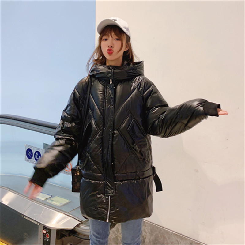 Solid   Parka   Padded Coat 2019 New Fashion Hooded Zipper Women Winter Warm Cotton Winter Jacket Womens Winter Feminino Autumn