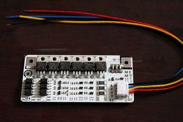 3 s Proteção de Bateria 60A BMS PCB Board com corrente de Descarga de Equilíbrio para 3 Packs 12 V 60A LiFePo4 Li celular