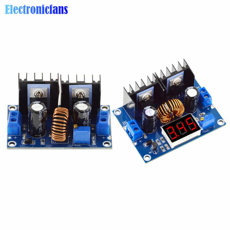 XL4016 DC-DC 4-36V untuk 1.25-36V Langkah-Down Converter Power Supply Papan Modul voltmeter LED PWM Adjustable Max 8A 200W