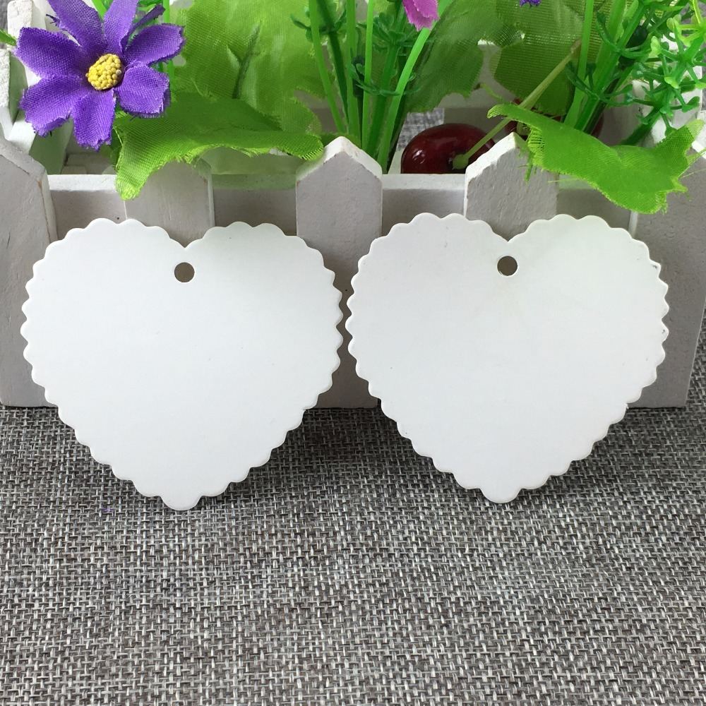 600pcs Blank Heart Shape Gift Tags Vintage Gift Tags Wedding Party ...