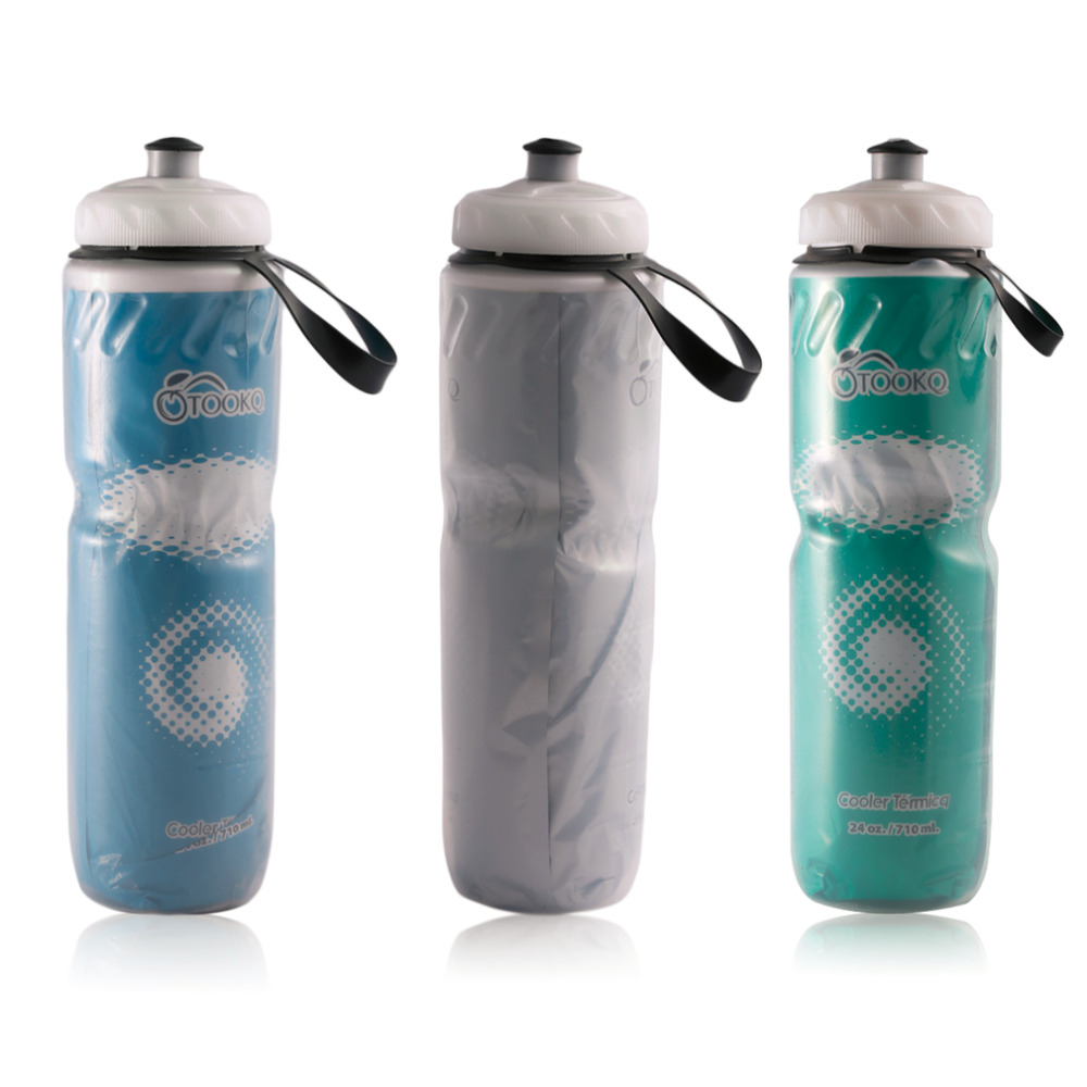 710ml Portable Outdoor Insulated Water Bottle Bicycle Bike Cycling Sport Water Cup Kettle Recyclable Bottle 24oz