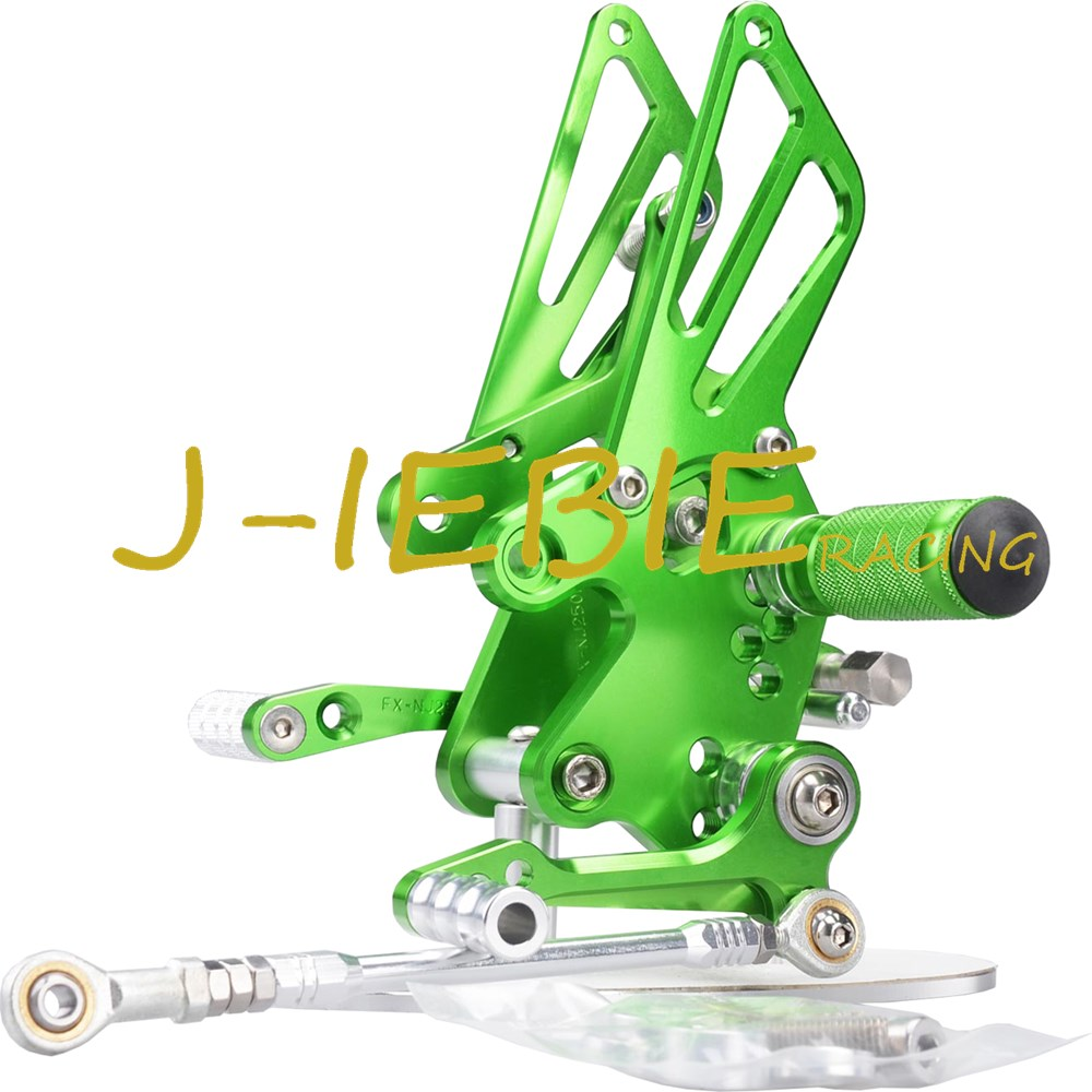CNC Racing Rearset Adjustable Rear Sets Foot pegs For Kawasaki NINJA EX250 250R 2008 2009 2010 2011 2012 GREEN morais r the hundred foot journey