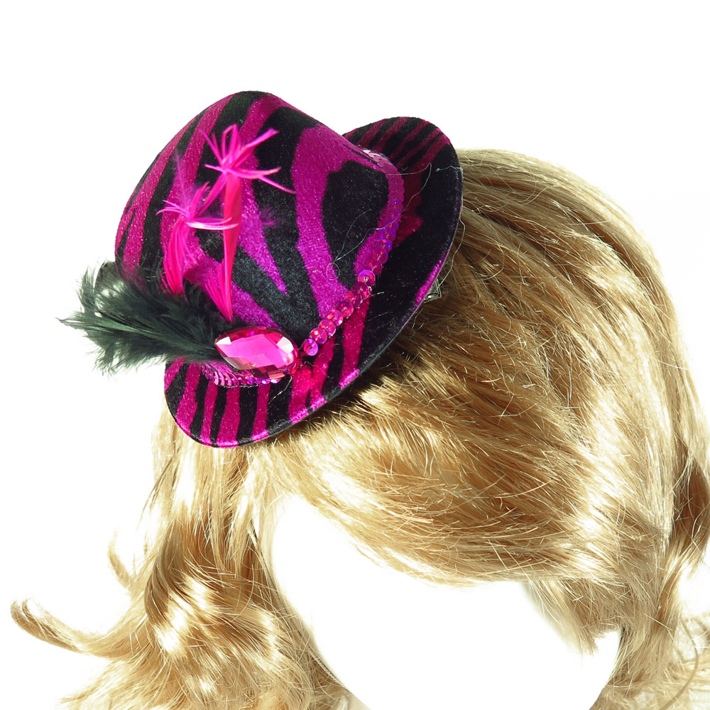 Top Hat On Hair Clip 50 Off For 3pcs High Fashion White Gem Zebra Princess Birthday Bridal Shower Bachelorette Hen Party Favor In Hats From Home