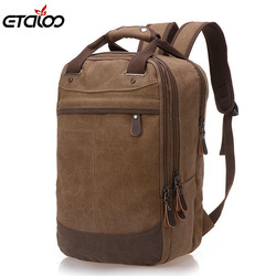 Factory direct foreign trade trend of casual canvas bag man bag computer backpack student leisure shoulder.jpg 250x250