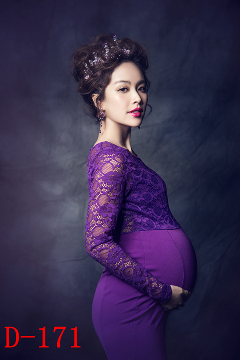e0cd995cd69e5 Purple Pregnant Photography Props Elastic Backless Maternity Trailing Gown  Fishtail Dress Photo Shoot Baby Shower Gift Studio-in Dresses from Mother &  Kids ...