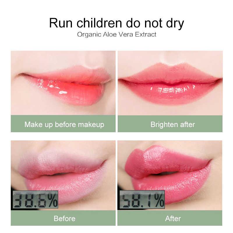 1 Pc אלוורה איפור לחות צבע שינוי מזין שפתון שפתי שפתון הגנה לטשטש גלוס TSLM2