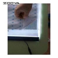 ZOOYA 5D DIY Diamond Embroidery A4 LED Light Stencil Touch Pad Copy Apply To EU UK