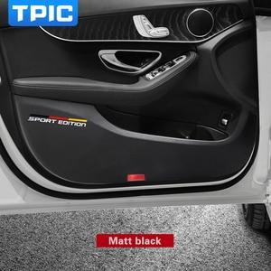 Image 4 - TPIC 車の kick パッドステッカー超薄型革 PVC ドア保護サイドエッジフィルムメルセデス w204 w205 w213 C E クラス
