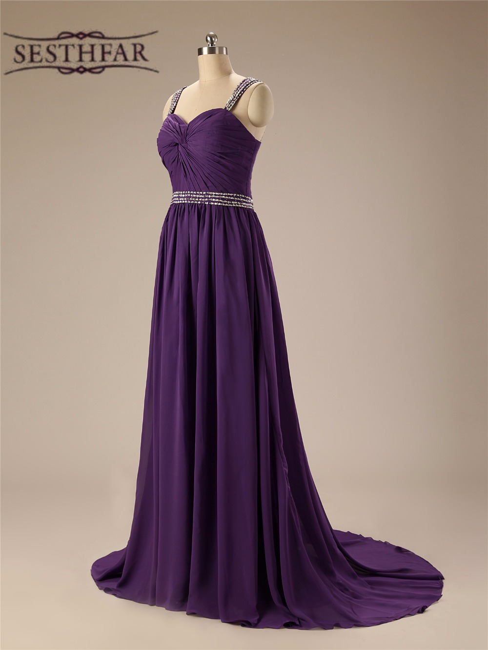 Elegant purple bridesmaid dresses promotion shop for promotional bridesmaid dresses long 2017 dark purple elegant new sweetheart chiffon wedding party dresses vestido madrinha jmc141 ombrellifo Image collections