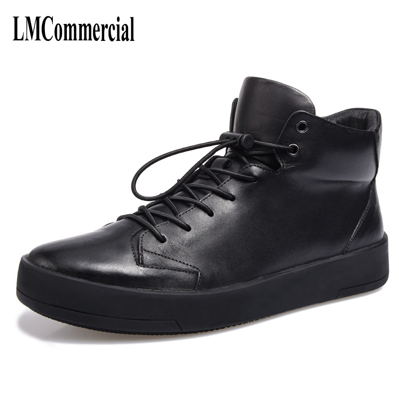 New leather shoes high male simple British brogue youth tide high supreme men