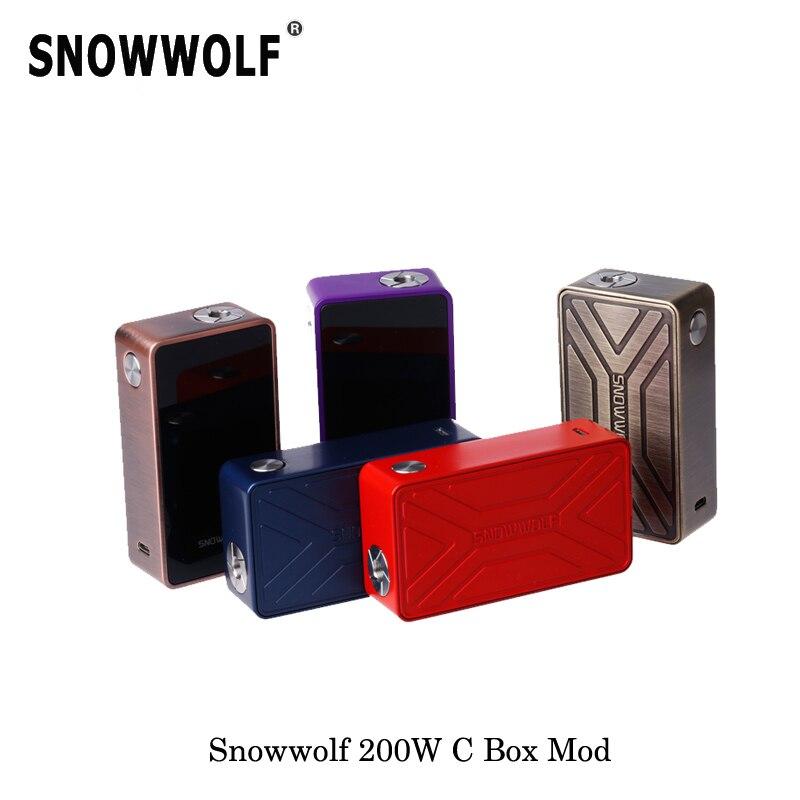 235 W Cigarette électronique Original Snowwolf 200 W C boîte Mod alimenté par 2 18650 avec contrôle de la température en watts Mode vaporisateur
