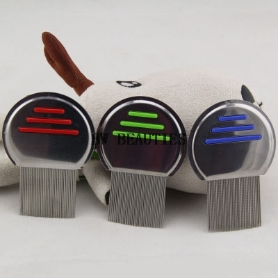 500Pcs/Lot Stainless Steel Terminator Lice Comb Nit Free Kids Hair Rid Head lice Super D ...