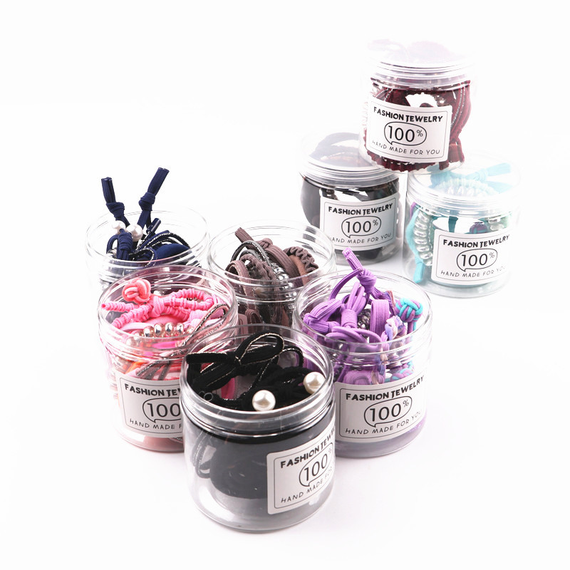 1set=10pcs Girl Kids Tiny Hair Accessories Hair Bands Elastic Ties Ponytail Holder Braided Hair Ropes