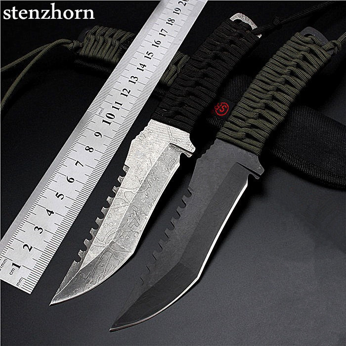 ФОТО Stenzhorn Quality Goods Outdoor Field High Hardness Small Straight Knife Wilderness Survival The Folding Fruit Diving Cutter