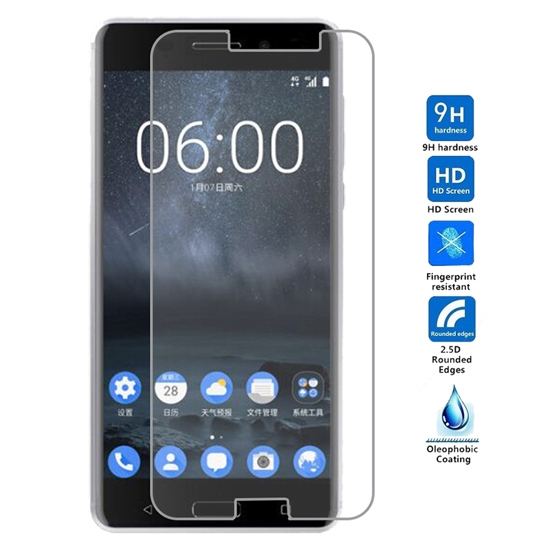 9H 2.5D Premium Screen Protector Film For Nokia 6 <font><b>3</b></font> 5 <font><b>7</b></font> 2 8 Tempered Glass For Nokia Lumia 630 640 650 930 <font><b>950</b></font> 1020 Phone Film image