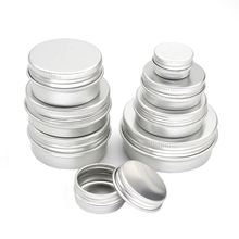 50pcs/lot 5g 10g 15g 20g 30g 40g 50g Aluminum Jars 5ml 10ml 15ml 20ml 30ml 40g 50ml Empty Cosmetic Metal aluminum Tin Containers