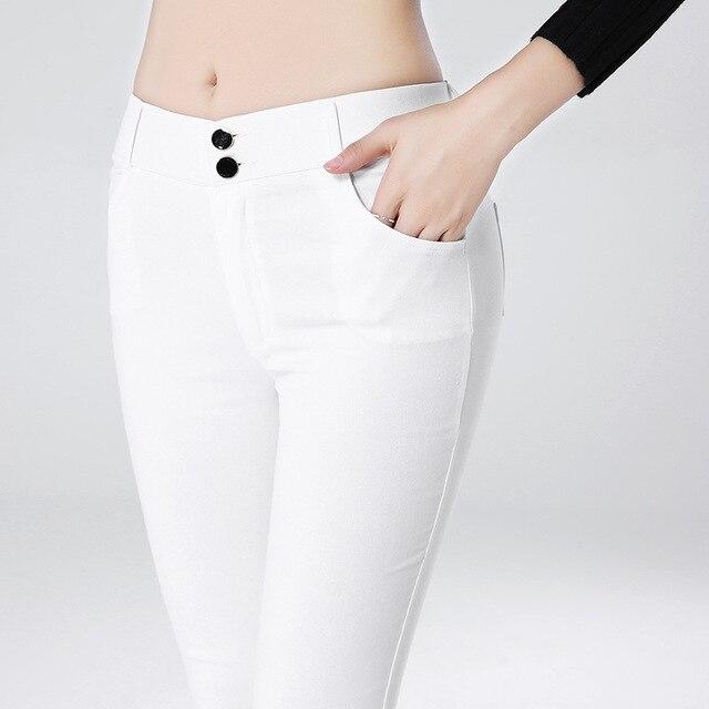 witte broek dames hoge taille