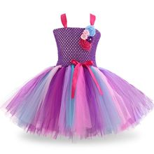 Girl Princess Dress Birthday Party Children Tulle Flower Kids Halloween Cosplay Wedding