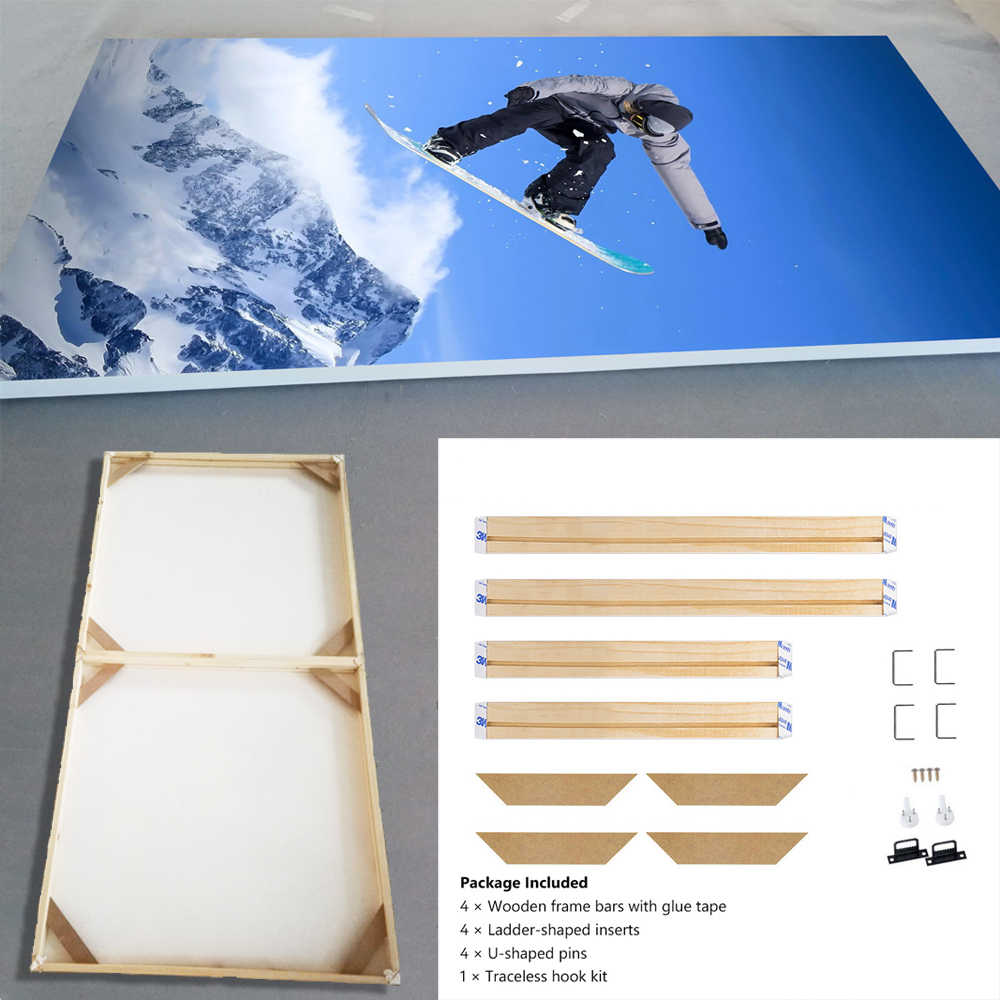 Natural Wooden DIY Frame For Canvas Painting Posters Photos Pictures, Easy to Assemble, Wall Frame Custom Frame Longlife Wood