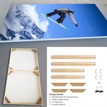 Natural Wooden DIY Frame For Canvas Painting Posters Photos Pictures, Easy to Assemble, Wall Custom Longlife Wood