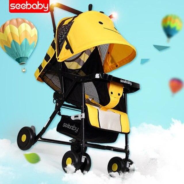 Seebaby Lightweight Baby Stroller Travelling Kids Pushchair