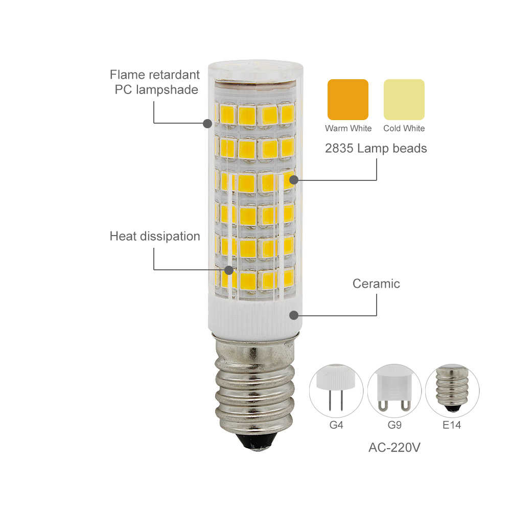 1 Pcs Lamparas LED G9 G4 E14 Bohlam AC 220 V Spotlight SMD 2835 Ringan Ganti 30 W 40 W 50 W Lampu Halogen untuk Lampu Gantung
