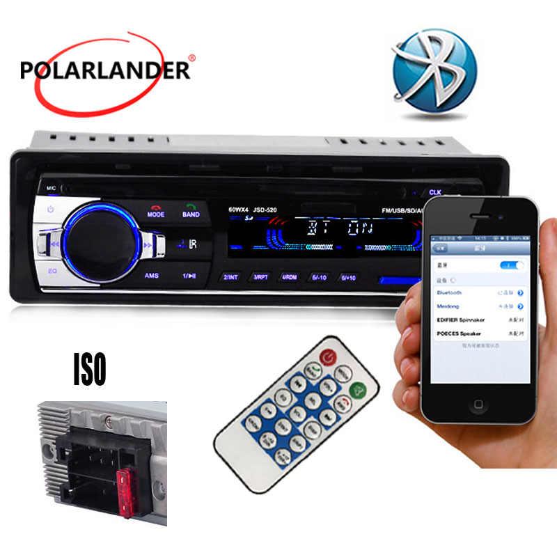 ISO autoradio1din12V 520Car radyo MP3 ses çalar desteği Bluetooth fonksiyonu USB/SD MMC portu aux input araba In-dash w/uzaktan kumanda