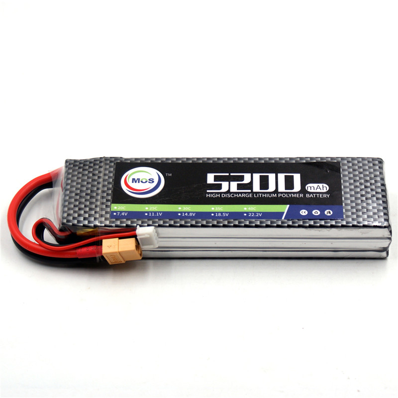 MOS 3S 11.1V 5200mAh 25C RC LiPo Battery For RC Airplane Car Li-Po batteries 3S RC Drone Batteria Free Shipping mos 2s rc lipo battery 7 4v 2600mah 40c max 80c for rc airplane drone car batteria lithium akku free shipping
