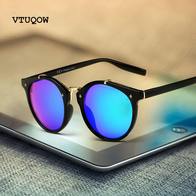 Luxury Cat Eye Sunglasses Women Men Brand Designer Vintage Round Sun Glasses For Women Female Ladies Sunglass Mirror UV400 gafas