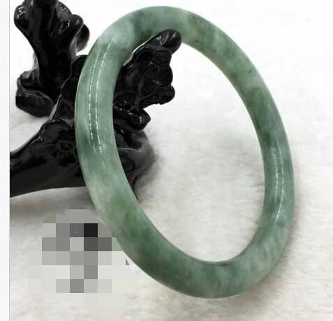 62mm Vintage China 100% Natural Beautiful Green stone Gems Bangle Bracelet