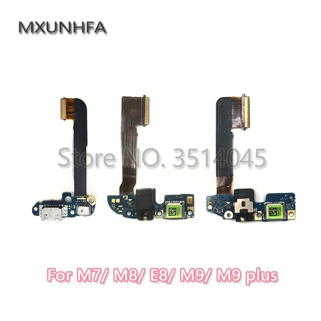 USB micro del cargador del puerto de carga del conector de micrófono de Flex Cable para HTC uno M7 M8 E8 M9 más M9 +