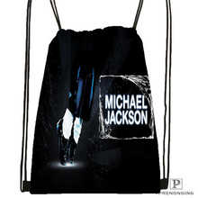Custom Michael Jackson @1Drawstring Backpack Bag Cute Daypack Kids Satchel (Black Back) 31x40cm#180612-02-28(China)