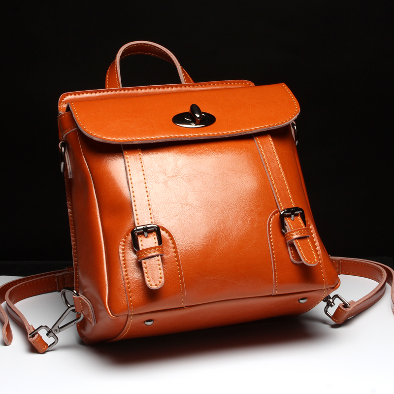 Hot Sale Women's Backpack the Oil Wax Of Cowhide Leather backpack women casual gentlewoman small bags Genuine Leather school bag hot sale women s backpack the oil wax of cowhide leather backpack women casual gentlewoman small bags genuine leather school bag