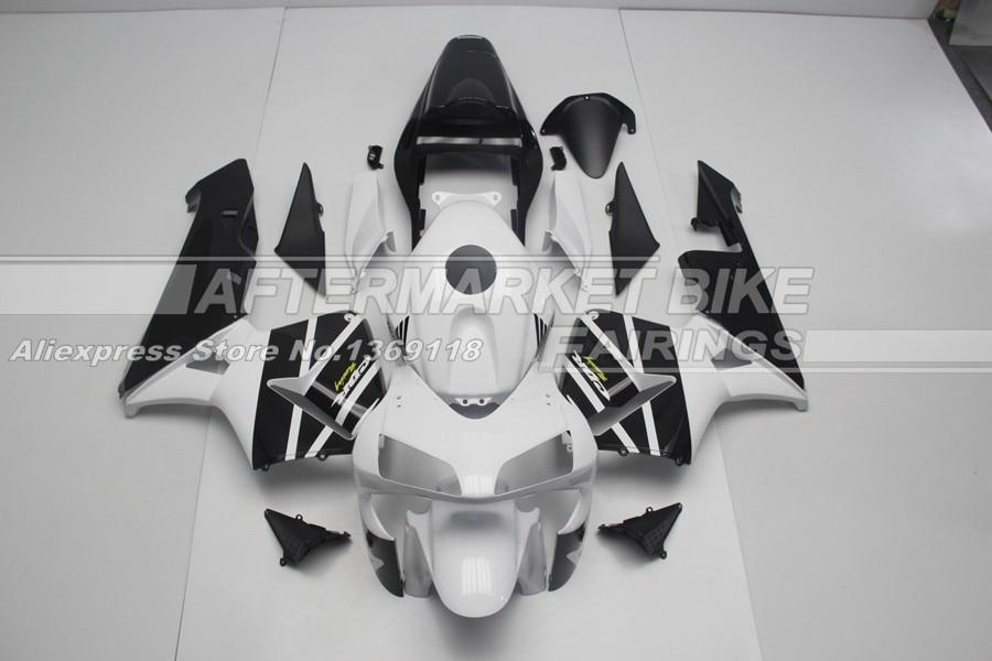 Для Honda бело-черные наклейки 2004 CBR600RR 2003 хорошее качество обтекатель Наборы