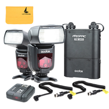 2x Godox TT685N i-TTL Camera Flash + X1N Flash Trigger + PB960 Battery Pack + Power Cable for Nikon DSLR Camera