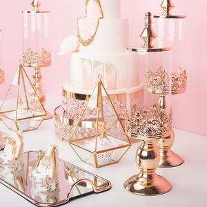 Image 4 - Azucarero, mesa de postres de boda, decoración, azucarero, tarro de cristal para dulces, bizcocho tentempié, depósito de almacenamiento