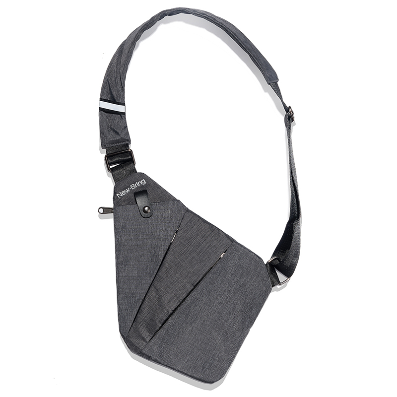цена Fasion Casual Solid Bag Waist Single Shoulder Bags Waterproof Male Nylon Crossbody Bag Travel Leisure Zipper Shoulder Bag