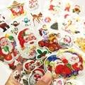 4 Листов/комплект Маленький Рождественский подарок Санта-Клауса форма наклейки Пузырь точки зрения пузырь отправить Детей в качестве Рождественского подарка