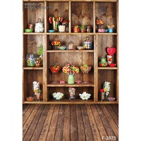 Customized Art Fabric Candy Rack Photography Backdrops For Child Studios Drops Newborns Background F 2875