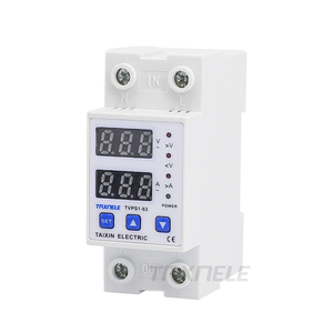 Image 4 - 63A 110V Din rail adjustable over under voltage protective device protector relay Current Limiting Protection