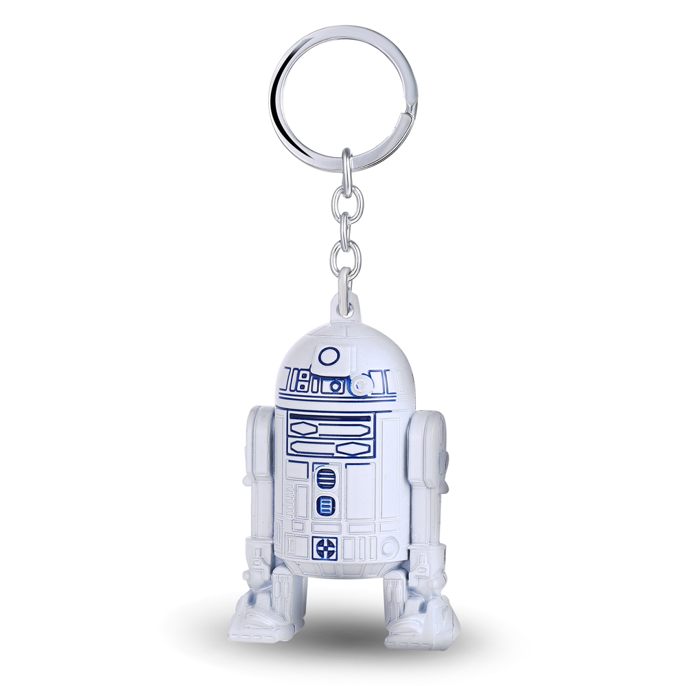3D White Star Wars Keychain Robot R2D2 Metal Falcon Darth Vader Key Ring Chain Men Gift  ...