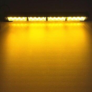 Led Fog Lights | 16 LED High Power 12V Car Truck LED Strobe Light Fireman Police Flashing Emergency Warning Lights Red Blue Yellow White Green
